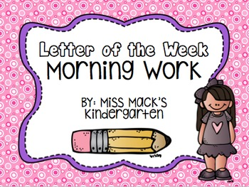 Letter of the Week Word Work {Tracing, Beginning Sounds, M