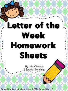 Letter of the Week Worksheets
