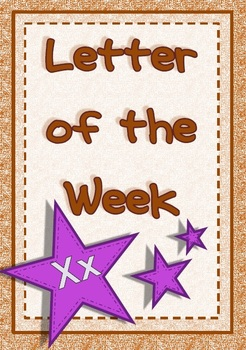 Letter of the Week - Xx