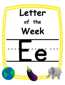 Letter of the week Ee