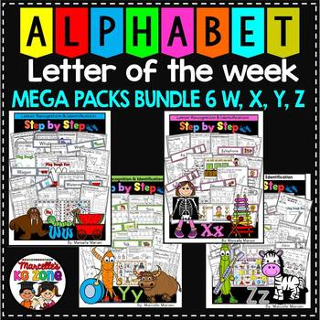 Letter of the week-LETTERS W, X, Y, Z ACTIVITY PACKS-BUNDLE 6