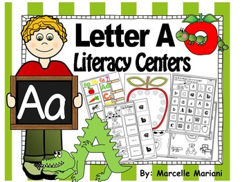 Letter of the week- Letter A Literacy Center Activities fo