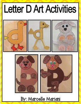 Letter of the week-Letter D-Art Activity Templates- A lett