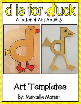 Letter of the week-Letter D-Art Activity Templates- d is for duck