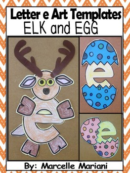 Letter of the week-Letter E-Art Activity Templates- E is f
