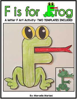 Letter of the week, Letter F Art Activity- F is for FROG a