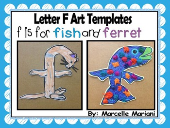 Letter of the week-Letter F-Art Activity Templates- F is f