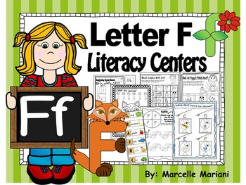 Letter of the week- Letter F Literacy Center Activities fo
