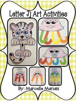 Letter of the week-Letter J-Art Activity Templates- A lett