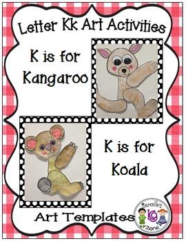 Letter of the week-Letter K-Art Activity Templates- A lett