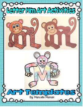 Letter of the week Art Activity- Letter M is for Monkey an