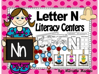 Letter of the week- Letter N Literacy Center Activities fo