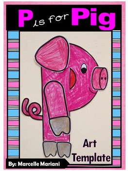 Letter of the week-Letter P-Art Activity Templates- P is f