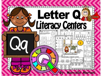 Letter of the week- Letter Q Literacy Center Activities fo