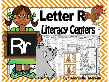 Letter of the week- Letter R Literacy Center Activities fo