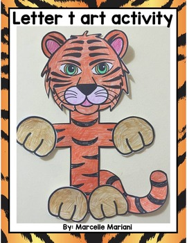 Letter of the week-Letter T Art Activity Templates- T is f