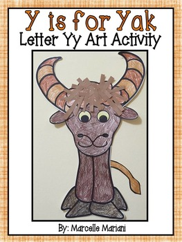 Letter of the week-Letter Y-Art Activity Template- Yak Art