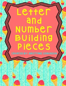 Letter or Number Building Pieces, Used for Centers or Inte