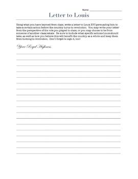 Letter to Louis XVI