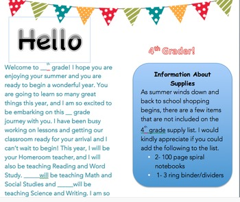 Letter to Students Back to School