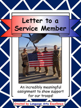 Letter to a Member of our Military - Great Project for Vet