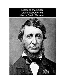 """Letter to the Editor: Henry David Thoreau and """"Civil Disob"""