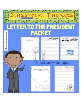 Letter to the President of the United States Packet