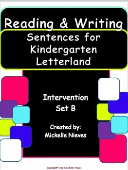 Letterland Intervention: Reading & Writing Sentences Set B