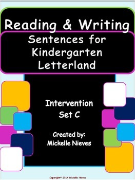 Letterland Intervention: Reading & Writing Sentences Set C
