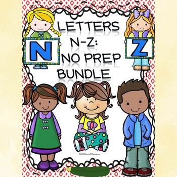 Alphabet Letter of the Week: Letters N to Z Bundle