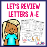 Letters A-E Review Pack