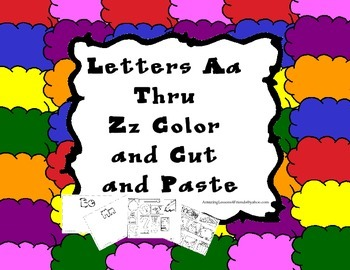 Letters Aa Thru Zz Color and Cut and Paste