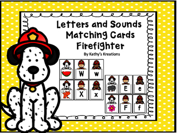 Letters And Sound Matching -Firefighters