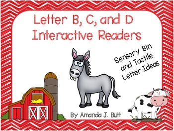Letters B, C, and D Interactive Readers - Preschool; Kinde