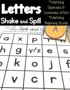 Letters & Beginning Sounds Shake & Spill!