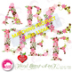 Letters Clipart, Letters In Pink Floral Theme Clipart, G t