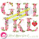 Letters Clipart, Letters In Pink Floral Theme Clipart, S t