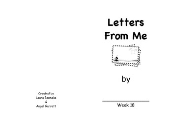 Letters From Me Sight Word Book- Week 18