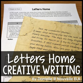 Letters Home - Creative Writing Assignment w/Rubric