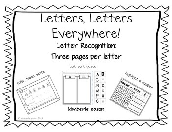 Letters, Letters, Everywhere! Uppercase and lowercase practice