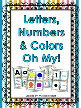 Letters, Numbers, and Colors Oh My!