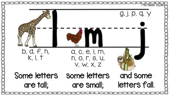 """Letters That Are """"Tall, Small, Fall"""" Poster"""