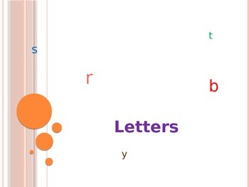 Letters, Words, and Sentences