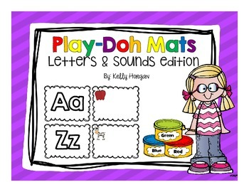 Letters and Sounds Play Doh Mats