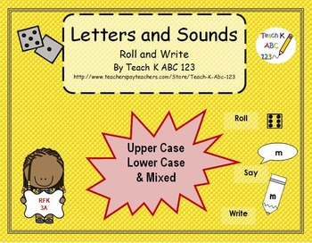 Letters and Sounds Roll and Write