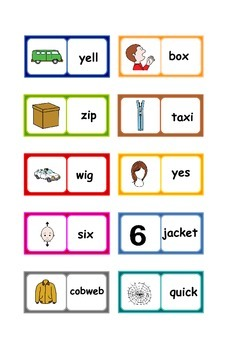 Letters and Sounds phonics : Phase 3 words dominoes . 6 SETS .