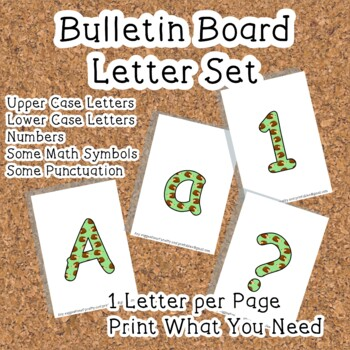 Printable display bulletin letters numbers and more: Noctu