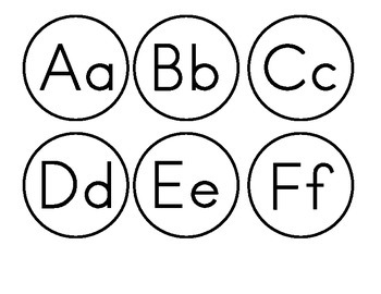 Letters for Word Wall