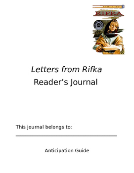 Letters from Rifka Reader's Journal