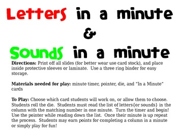 Letters in a Minute & Sounds in a Minute
